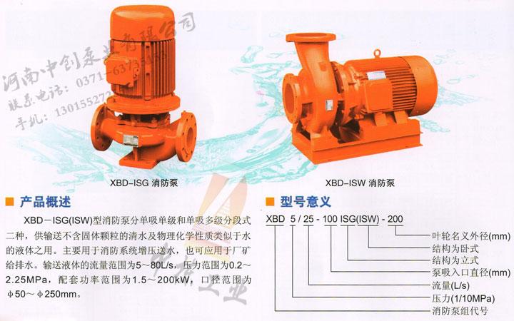 立式、卧式单级消防泵参数及型号意义